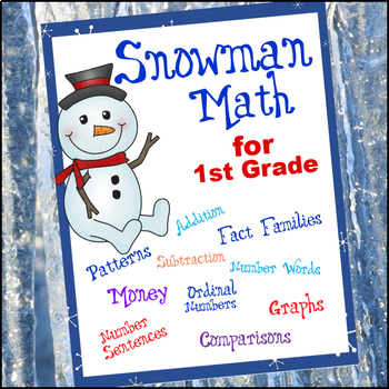 Snowman Math for 1st Grade