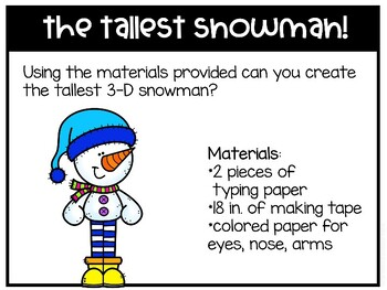 Snowman Matter Science and STEM Pack