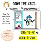 Snowman Measurement: Boom Task Cards!