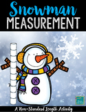 Snowman Measuring Measurement Activity