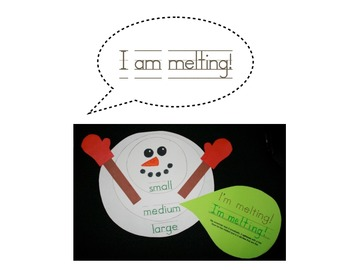 Snowman Melting - Focusing Size & Shape (circle)