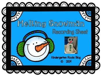 Snowman Melting Record Sheet