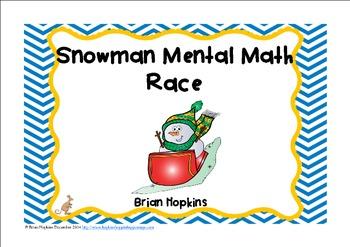 Snowman Mental Math Race