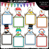Snowman Message Boards Clip Art - Snowman Frames