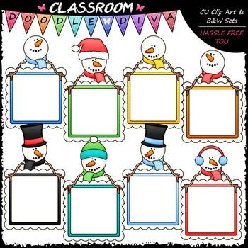 Snowman Message Boards Clip Art - Snowman Frames