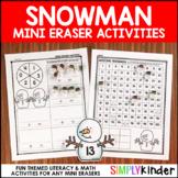 Snowman Mini Eraser Activities