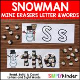 Snowman Mini Eraser Alphabet & Sight Words Mats