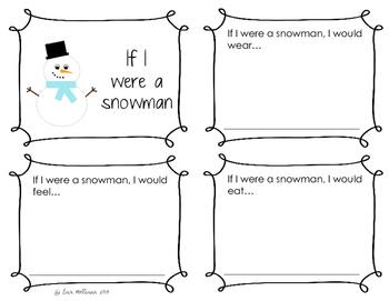 Snowman Mini-books