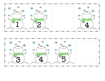 Snowman Missing Numbers 0-10