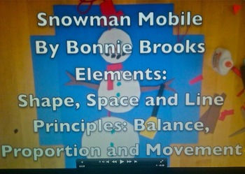 Snowman Mobile for Elementary