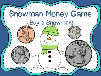 Snowman Money Game {Buy-a-Snowman}