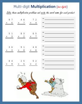 Snowman Multi-digit Multiplication