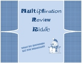 Snowman Multiplication Riddle