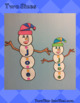 Snowman Name Craft Activity - Christmas & Winter Word Craft - Holiday