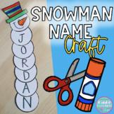 Snowman Name Craft - Christmas
