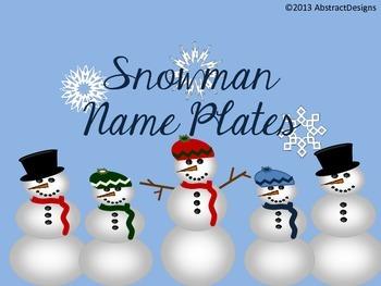 Snowman Name Plates