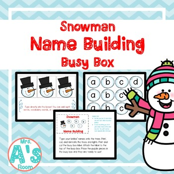 Snowman Names Busy Box
