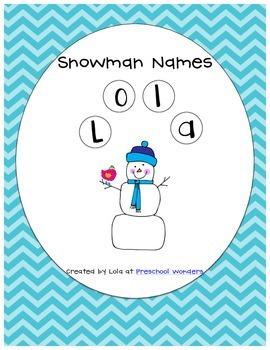 Snowman Names {Freebie}