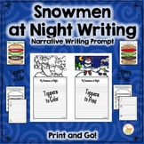 Snowman Narrative Writing Craft:  Posters, Planners, Toppers Included