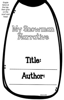 Snowman Narrative Writing Craftivity