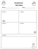 Snowman Themed Nonfiction note taking template