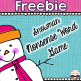 Snowman Nonsense Word Game Freebie
