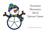 Snowman Nonsense Word Spin and Read Game