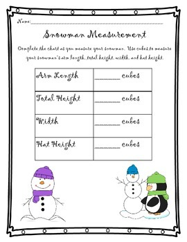 Nonstandard Measurement - FREEBEE!