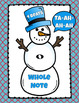 Snowman Note Value Bulletin Board Kit