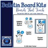 Snowman Note Value Bulletin Board Kit