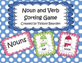 Snowman Noun and Verb Sorting Game