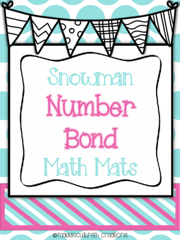 Snowman Number Bond Math Mats
