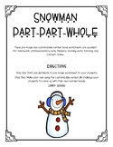 Snowman Number Bonds Worksheet Set -- CUSTOMIZABLE!