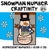 Snowman Number Craftivity
