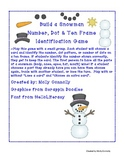 Snowman Number, Dot, & Ten Frame Identification Game