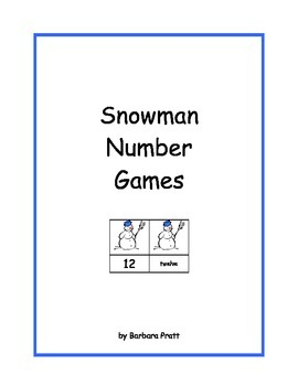 Snowman Number Games: 0-25 eBook - Version #2