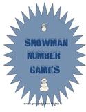 Snowman Number Games Freebie