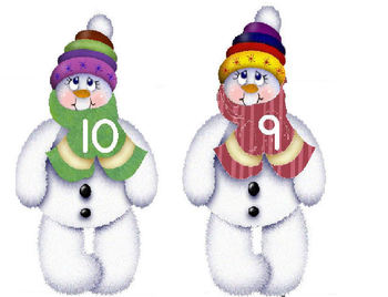 Snowman Number Identification Game