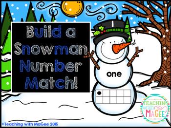 Snowman Number Match