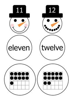 Snowman Number Match-Up