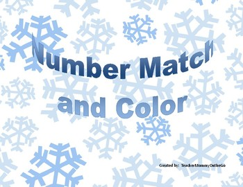 Snowman Number Match and Color
