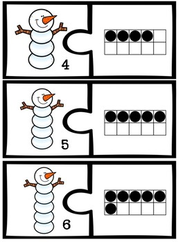Snowman Number Matching Puzzle {1-20}