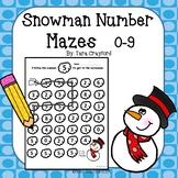 Snowman Number Mazes