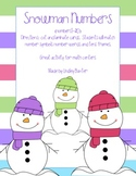 Snowman Number Sense (number symbols, words and ten frames)