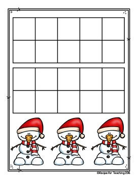 Snowman Number and Ten Frame Cards