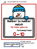 Snowman-Number to number match file folder game 0-10