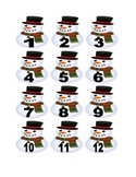 Snowman Numbers for Calendar or Math Activity