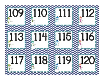 Snowman Numbers to 120: For the Pocket Chart