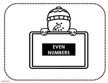 Snowman Odd and Even Sorting Activity and Worksheets
