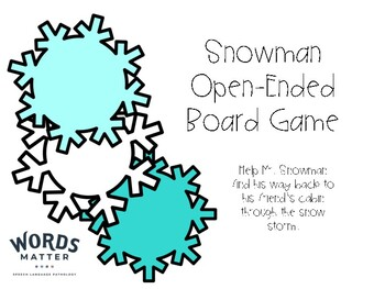 Snowman Open-Ended Board Game